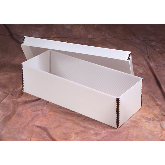 Gaylord Archival® Corrugated Polypropylene Shallow Lid Boxes with Metal Edges (Set of 5)