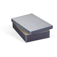 Gaylord® Blue/Grey Barrier Board Shallow Lid Archival Multipurpose Box