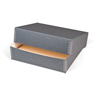 Gaylord® Blue/Grey Barrier Board Deep Lid Archival Print Box