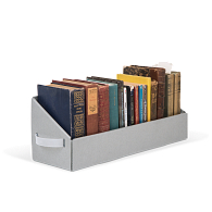 Gaylord Archival® Blue/Grey B-flute Book Tray with Handles