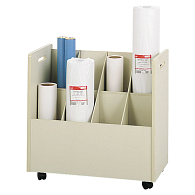 Safco® 8-Compartment Mobile Roll Storage