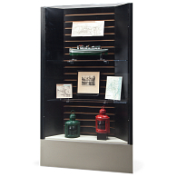 Gaylord® Keynote Corner Exhibit Case with UV Acrylic