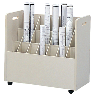 Safco® 21-Compartment Mobile Roll Storage