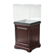 Gaylord Archival® Hudson™ Chester Raised Panel Pedestal Exhibit Case with UV Acrylic