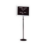 Ghent® Indoor Telescoping Single Pedestal Letterboard