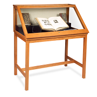 Gaylord Archival® Sedgwick™ Slant-Front Exhibit Case with LED Lighting