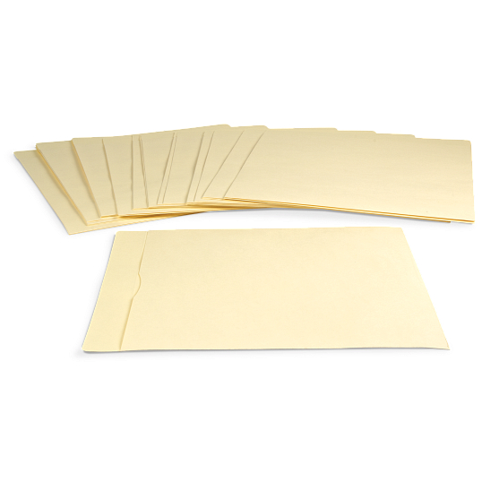 "Gaylord® 10 pt. Folder Stock 17"" LP Record Envelopes (25-Pack)"