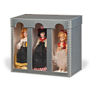 3-doll box shown with windows.