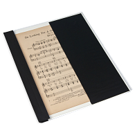 "Gaylord Archival® Classic™ 1/4"" Double Cloth Spine Sew or Staple Music Binder with Clear Cover & Straight Pocket"
