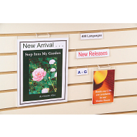 Jule-Art Acrylic Slatwall Slip-In Sign Holder