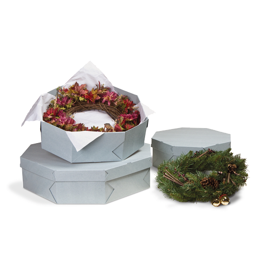 Gaylord Archival® Shallow Lid Wreath Box