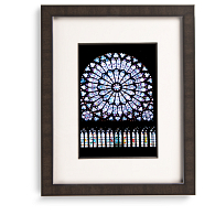 Gaylord Archival® Cherry Registry Collection Wood Frame Kit with Silver Accents