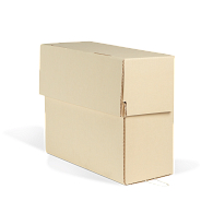 Gaylord Archival® Light Tan B-Flute Corrugated Flip-Top Document Case