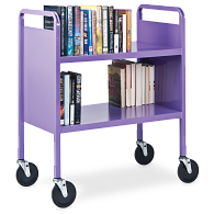 Gaylord® Advantage™ 2-Tier Flat Shelf Steel Book Truck