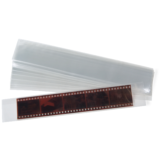 Gaylord Archival® 2.4 mil Polypropylene Self-Locking 35mm Negative Sleeves (50-Pack)