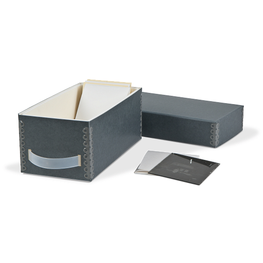 Gaylord Archival® Blue/Grey Barrier Board Glass Negative Storage System with Handle