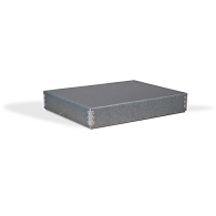 Gaylord Archival® Blue/Grey Barrier Board Digital Print Box with Thumb-Cut Tab