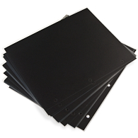 "9 1/2 x 11 1/2"" 3-Hole Punched Mounting Pages with Protectors (25-Pack)"