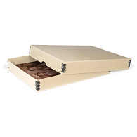 Gaylord Archival® Tan Barrier Board Digital Print Box with Thumb-Cut Tab