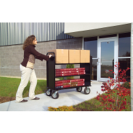Gaylord® The Book Beast™ 3-Tier Flat Shelf Steel Book Truck