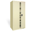 "72""H storage cabinet shown."