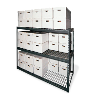 "60""H Steel 36-Carton Record Storage Rack"