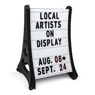 Outdoor A-Frame Double-Sided Letterboard Sidewalk Sign