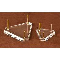 Jule-Art Brass & Acrylic Peg Triangle Display Base