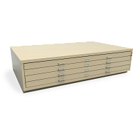 Extra-Large Locking 4-Drawer Horizontal Flat File