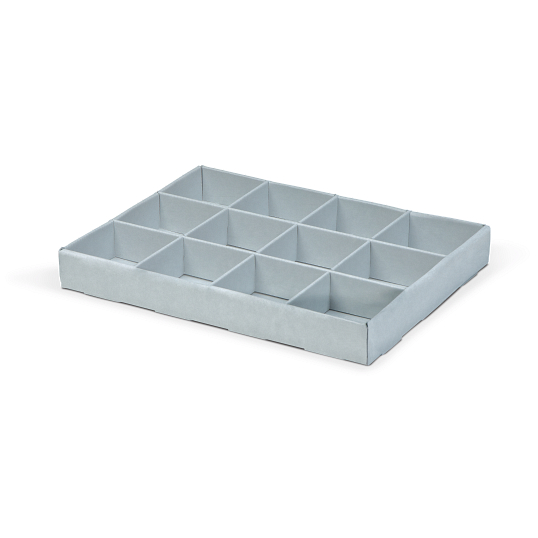 Gaylord Archival® E-flute 12-Capacity Multi-Divider Tray