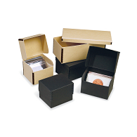 Gaylord® Tan Barrier Board Shallow Lid Archival Photo & Print Box