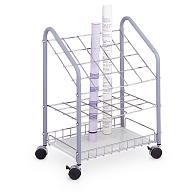 Safco® 20-Compartment Wire Mobile Roll Storage