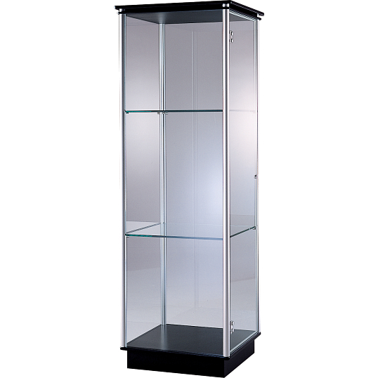 Peter Pepper Products PepperMint® Circular Profile Exhibit Case with Aluminum Top and 1 Door