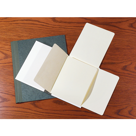 "Gaylord® 1/2"" Stiff Flatback Spine Document Preservation Binders with DuraCoat™ Acrylic Coating (5-Pack)"