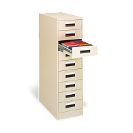 Gaylord® 9-Drawer Locking Vertical Microfiche Cabinet