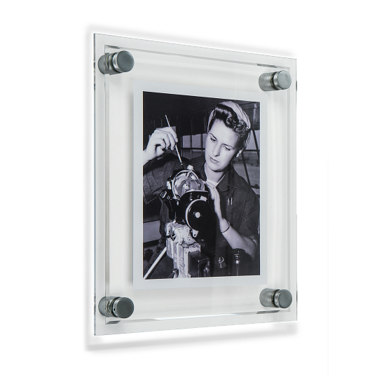 Gaylord Archival® Essential 2-Piece Acrylic Frame Kit with Matte Chrome Hardware