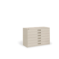 Russ Bassett 6-Drawer Locking Lateral Microfilm Cabinet