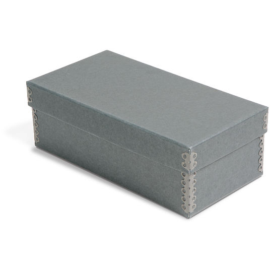 Gaylord Archival® Blue/Grey Barrier Board Card File Box