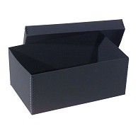 Gaylord Archival® Black Barrier Board Archival Photo & Print Box with Black Metal Edges