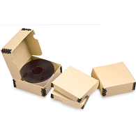 Gaylord® Tan Barrier Board Clamshell 35mm Microfilm Reel Boxes (100-Pack)