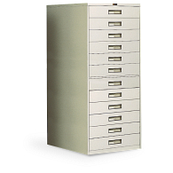 Russ Bassett 12-Drawer Locking Vertical Microfilm Cabinet