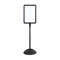 Safco® Write Way® Indoor/Outdoor Double-Sided Rectangular Sign Stand