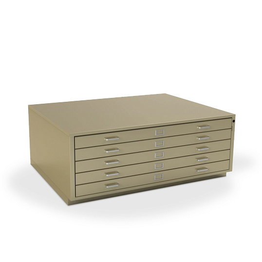 Gaylord Archival® Extra-Large Locking 5-Drawer Horizontal Flat File