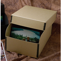 "Gaylord Archival® Tan Barrier Board 5 x 7"" Photo Box"