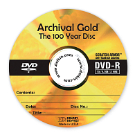 Delkin Devices Archival Gold™ 8x DVD-R Discs (25-Pack)