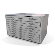 Gaylord Archival® Extra-Large 10-Drawer Horizontal Flat File