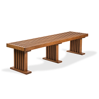 Gaylord Archival® Hardwood Gallery Slat Bench
