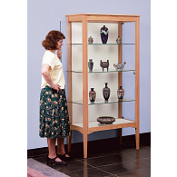 Gaylord® Eastwood™ Panel Back Leg Base Exhibit Case