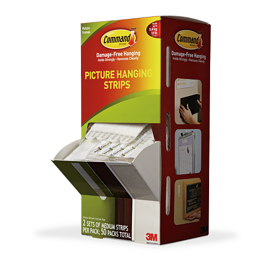 Command™ Medium Picture Hanging Strips (50 Packs of 2 Sets of Strips)