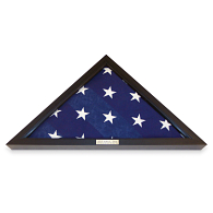 Flag Display Case with Custom Engraved Nameplate